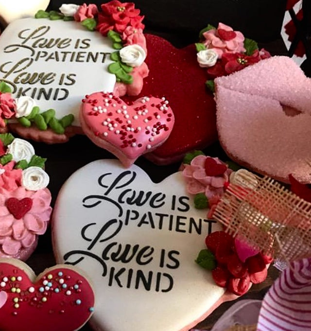 Love Is Patient, Love Is Kind Digital Design Cookie Stencil Sweet Keeks Splendid Sweets