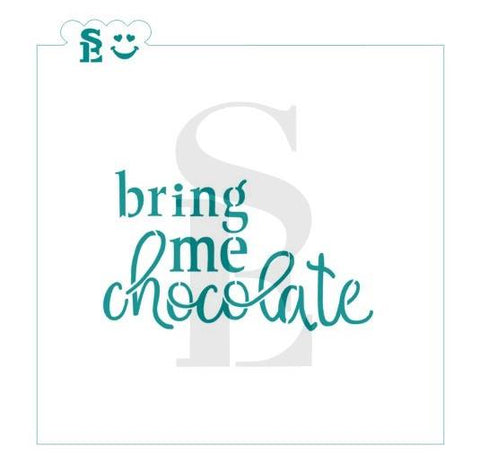 Bring Me Chocolate / TMP Collaboration Stencil for Cookies, Cakes & Culinary
