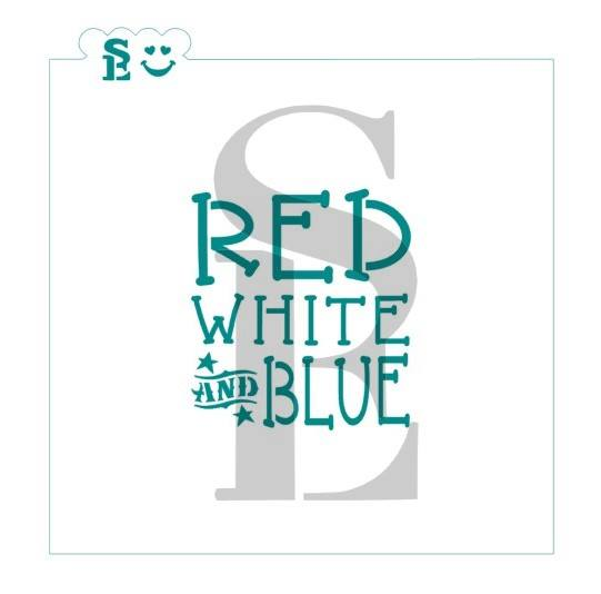 Red, White & Blue Stencil for Cookies, Cakes & Culinary