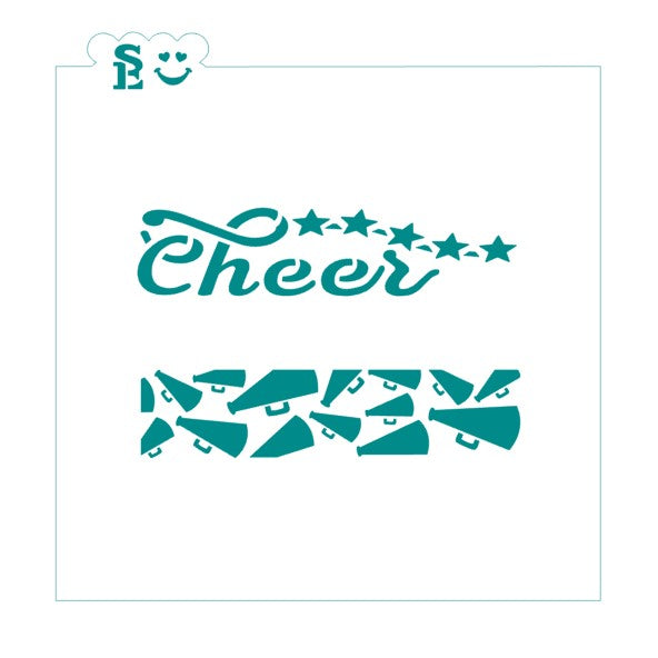 Cheer / Megaphone Cookie Sticks Stencil for Cookies, Cakes & Culinary