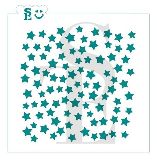 Scattered Stars Background Stencil for Cookies, Cakes & Culinary