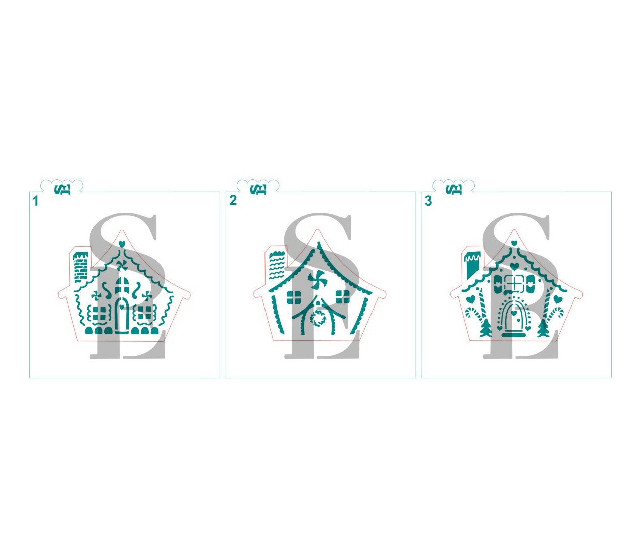 Gingerbread Houses - 3 Styles Digital Design