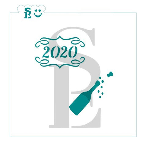 2020 Celebration Stencil for Cookies, Cakes & Culinary