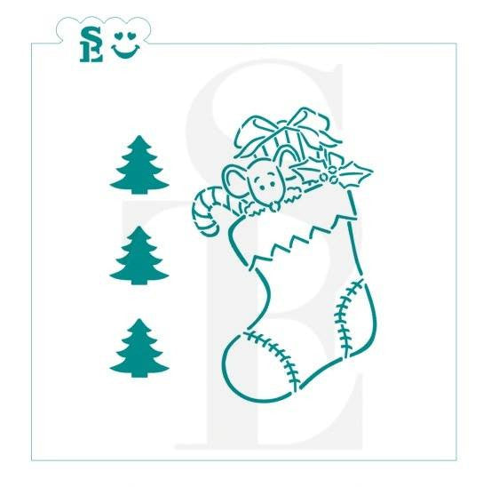 Christmas Stocking PYO Stencil for Cookies, Cakes & Culinary