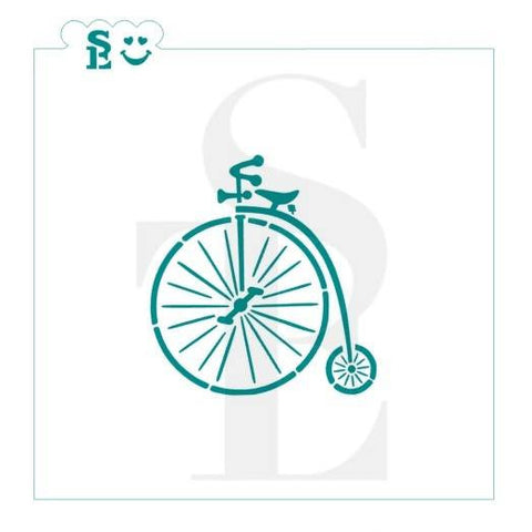 Bicycle Vintage Style Stencil for Cookies, Cakes & Culinary
