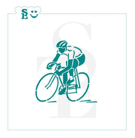 Bicycle Triathalon Racing Stencil for Cookies, Cakes & Culinary