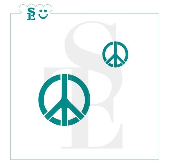 Peace Signs Stencil for Cookies, Cakes & Culinary