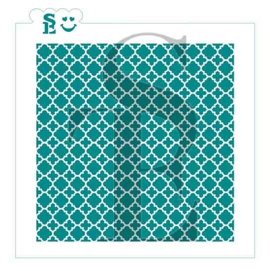 Quatrefoil Lace Background Stencil for Cookies, Cakes & Culinary