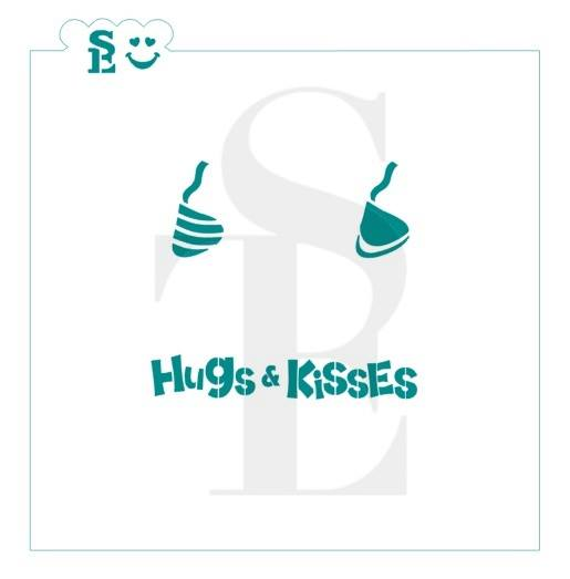 Hugs & Kisses Candy Stencil for Cookies, Cakes & Culinary