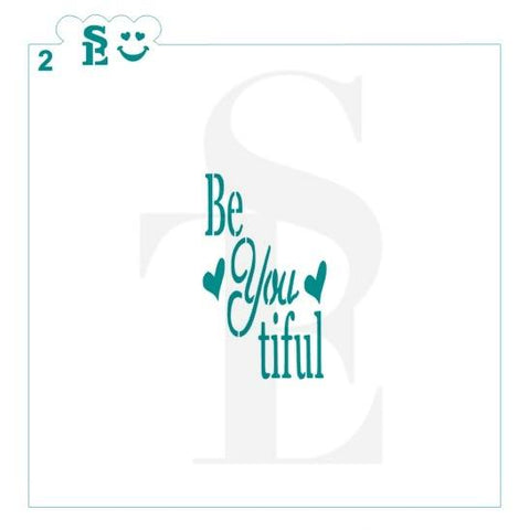Be YOU tiful Stencil #2 for Cookies, Cakes & Culinary