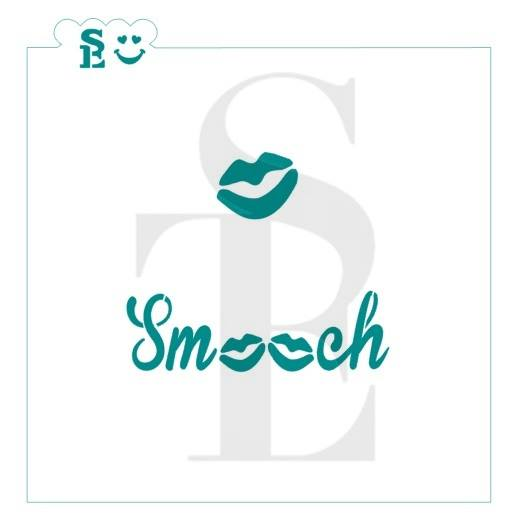 Smooch Lips Stencil for Cookies, Cakes & Culinary