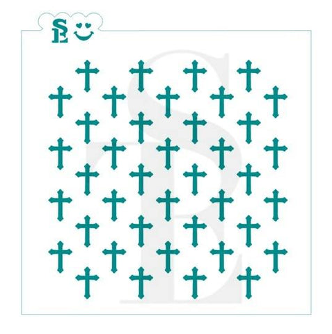 Cross Background Stencil for Cookies, Cakes & Culinary