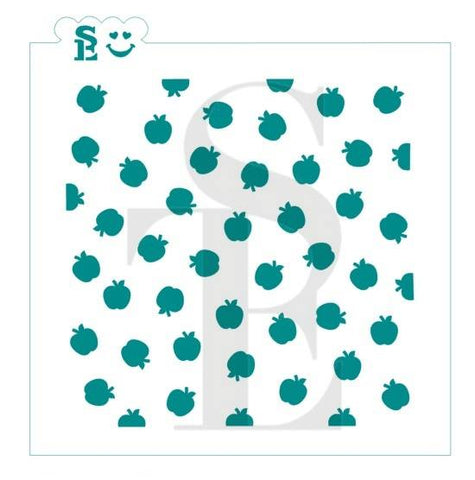 Apple - Scattered Background Stencil for Cookies, Cakes & Culinary