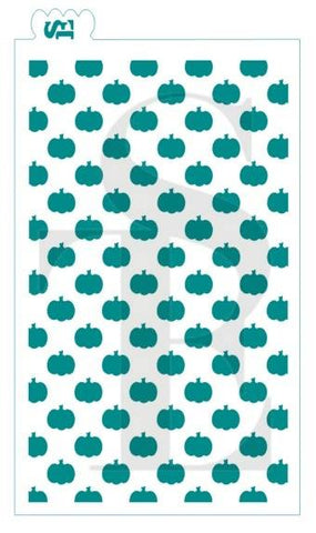 Pumpkin - Straight GRANDE Background Stencil for Cookies, Cakes & Culinary