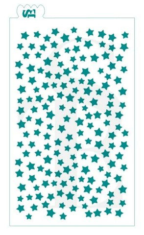 Scattered Stars GRANDE Background Stencil for Cookies, Cakes & Culinary