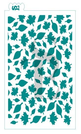 Fall Leaf GRANDE Background Stencil for Cookies, Cakes & Culinary