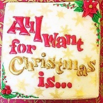All I want For Christmas Is... Stencil for Cookies, Cakes & Culinary
