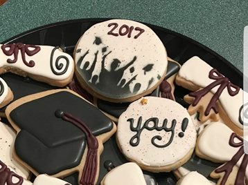 Graduation Celebration Border Digital Design Graduates Cookie and cake Stencil Karen P