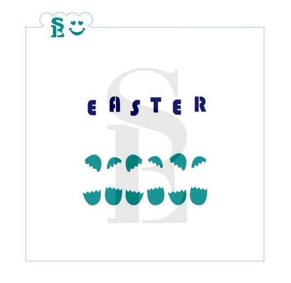 Easter Cracked Eggs Greeting Stencils for Cookies, Cakes & Culinary