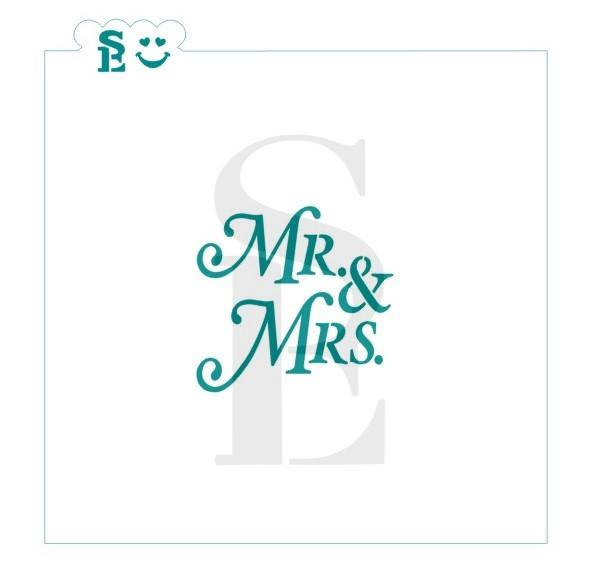 Mr & Mrs #2 Stencil for Cookies, Cakes & Culinary