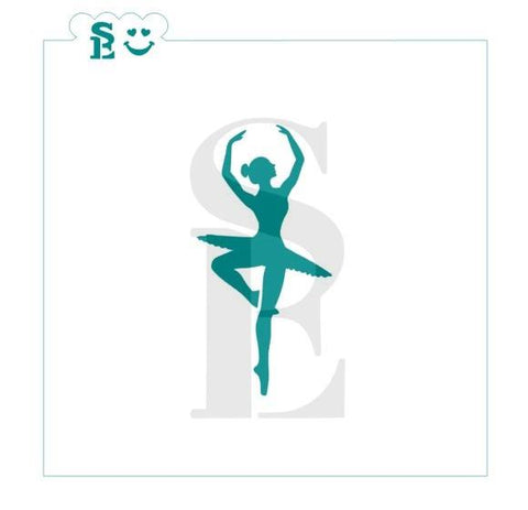 Ballerina Dancer Stencil for Cookies, Cakes & Culinary