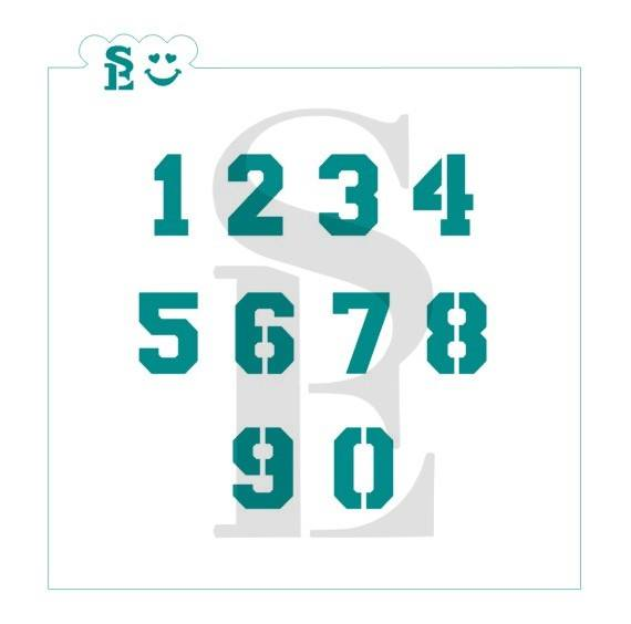 Numbers #2 Jersey Stencil for Cookies, Cakes & Culinary
