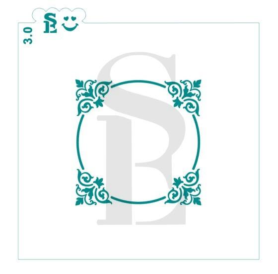 Square Flourish Frame Stencil for Cookies, Cakes & Culinary