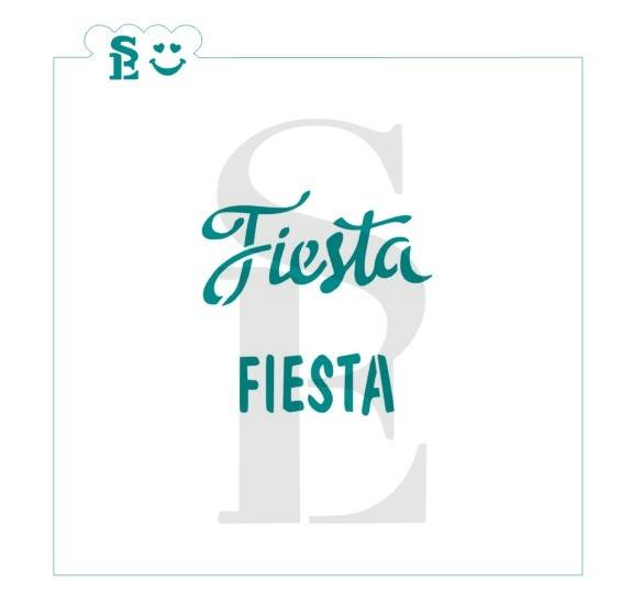 Fiesta Stencil for Cookies Cakes Culinary and more