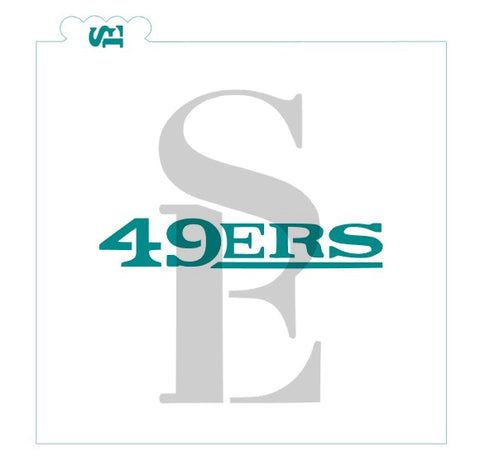 49ers Cookie Sticks Stencils for Cookies, Cakes & Culinary
