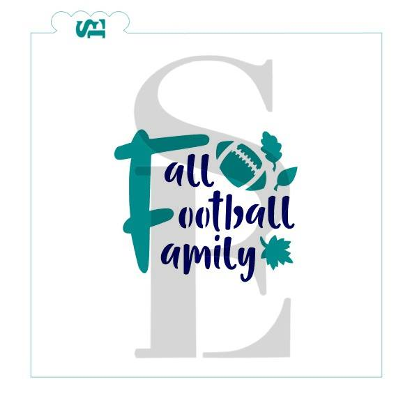 Fall Football Family, One & Two Step Stencil for Cookies, Cakes & Culinary