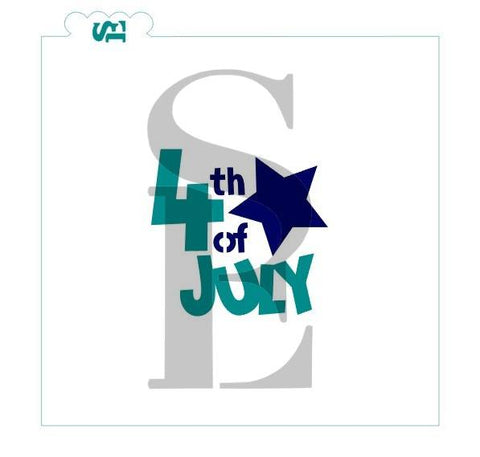 4th of July, One & Two-Step Stencil for Cookies, Cakes & Culinary