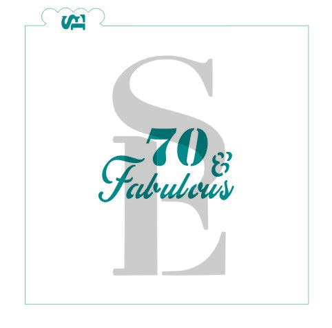 40, 50, 60, 70 & Fabulous Stencil Bundle for Cookies, Cakes & Culinary Cookie Stencils