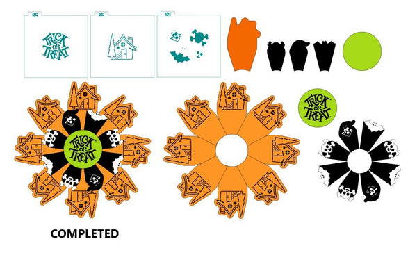 Deluxe Christmas AND Halloween Platter 6 Pc Stencil Set for Cookies, Cakes & Culinary