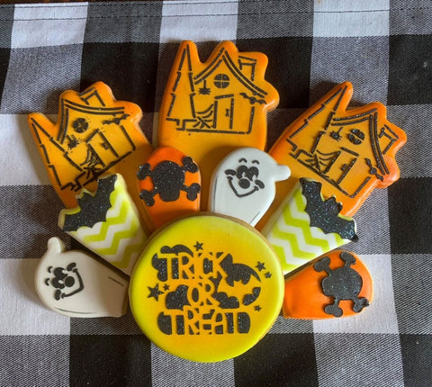 Halloween Cookie Platter Stencil Bundle of 3 for Cookies, Cakes & Culinary