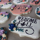 Welcome Fall Cookie Stencil Digital Design Laura Mortensen