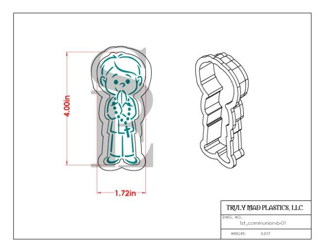 First Holy Communion Boy & Girl PYO Bundle Digital Design Cookie Stencil DRAWN By Krista
