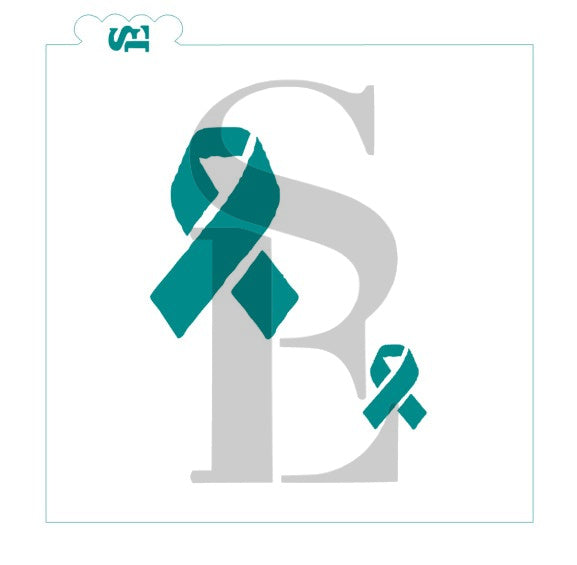 Cancer Awareness Ribbons Digital Design FREE cookie stencil