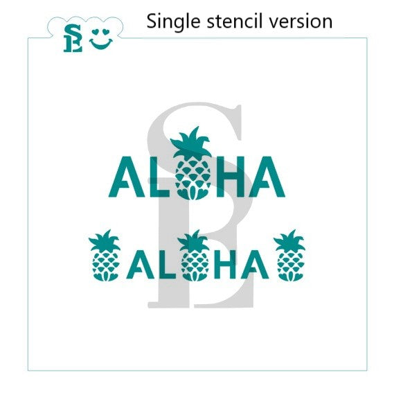 Aloha with Pineapple O Stencil for Cookies, Cakes & Culinary
