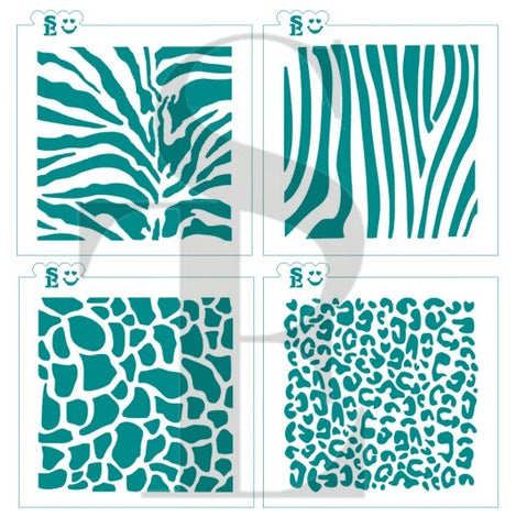 Animal Print Background Stencil Bundle for Cookies, Cakes & Culinary