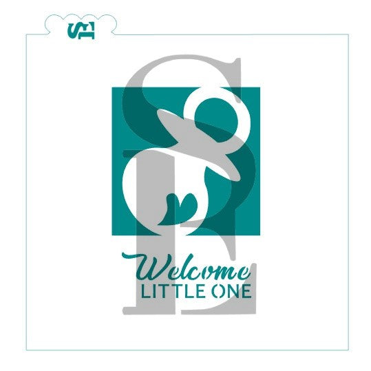 Baby Pacifier Reverse / Welcome Little One Digital Design