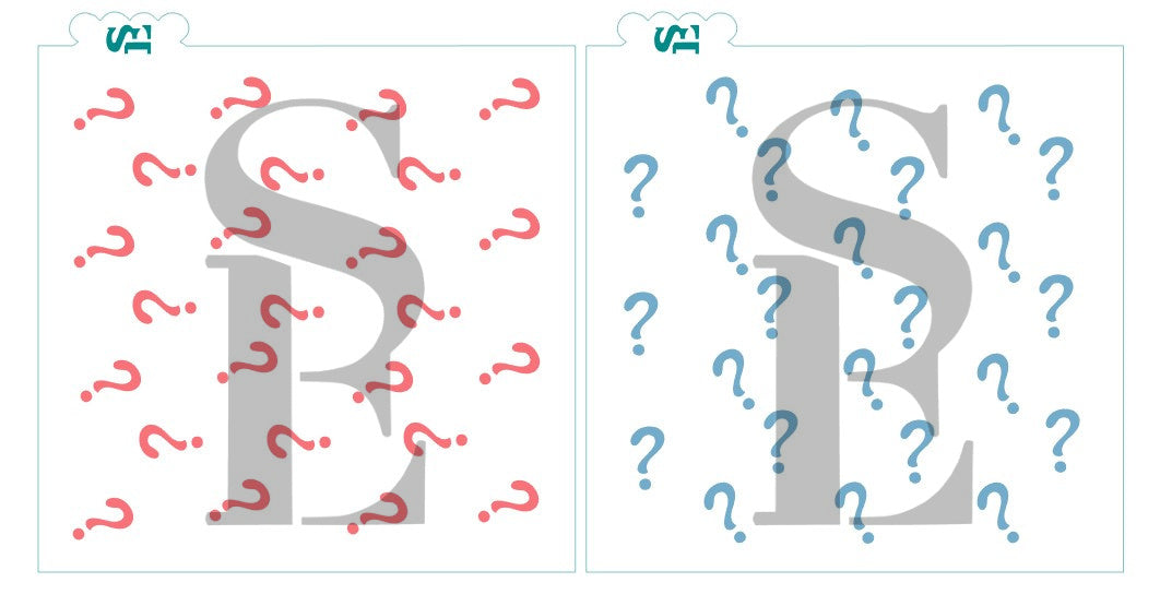 Question Mark Background, Single and Layered Set Digital Design