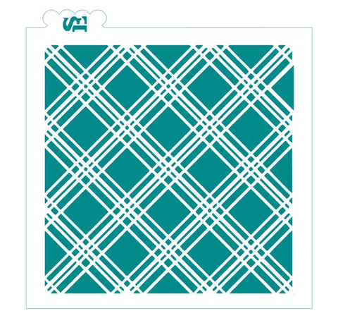 Picnic Plaid Background Digital Design Cookie Stencil