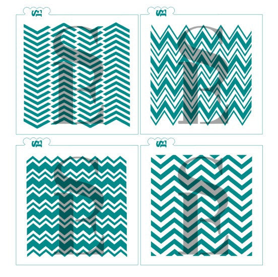 Chevron Bundle of 4 Backgrounds Digital Design cookie stencil
