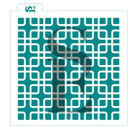 Deco Squares Background Digital Design cookie stencil