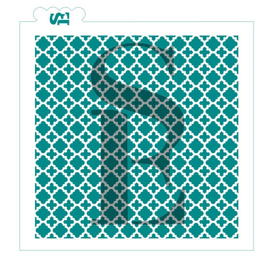Quatrefoil Lace Background Digital Design Cookie Stencil