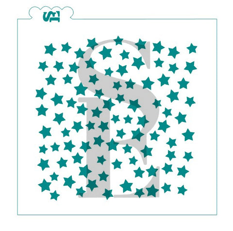 Scattered Stars Background Digital Design Cookie Stencil