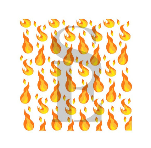 Flames 3-Layer Background Digital Design Cookie Stencil