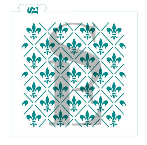 Fleur De Lis #2 Background Stencil for Cookies, Cakes & Culinary