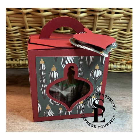 Melissa's Hot Cocoa Bomb Gift Box Cut Pattern Digital Download