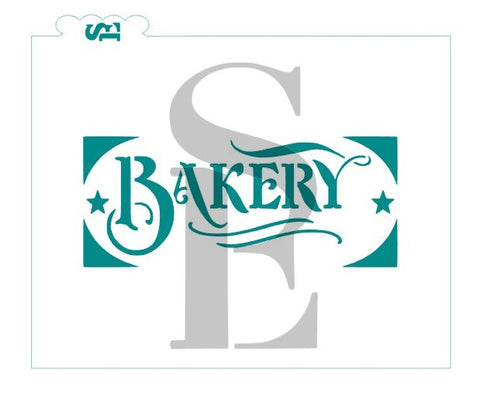 Bakery Artisan Bread Stencil for Cookies, Cakes Breads & Culinary